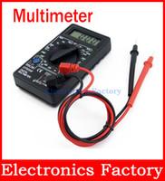 ac tester line - Electrical Ammeter AC DC Voltmeter Ohmeter Ohm Test Meter LCD Digital Multimeter Leads line Handheld Tester Tool Dt830b