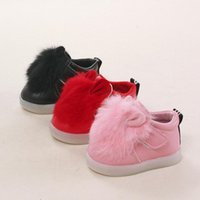 Wholesale Female baby rabbit boots Autumn and winter baby shoes years old Autumn and winter baby shoes years old