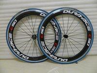 Hotsale Dura Ace C50 60 millimetri copertoncino ruote in carbonio 700C superficie frenante in lega di strada della bicicletta completa ruote in carbonio di Novatec luce 20-24H