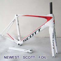 Road Bikes racing bike - Newest Scott Bike Frames Road Racing Bike Frame Full Carbon Fiber Bike Bicycle Frames DIY Painting Scheme Bike Frames BB91 press fit
