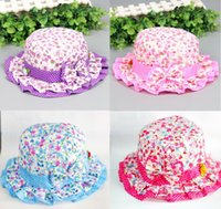 Wholesale 2015 new baby hat infant flower hats children cute caps for spring summer autumn four colors