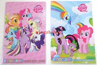 Wholesale 10 Cartoon The small size Colouring Book With Stickers Coloring Books For Kids Draw My Little Pony