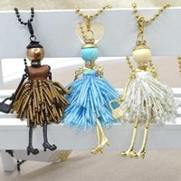Cheap Beautiful China doll necklace Best crystal costume jewelry necklace