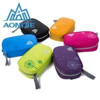 Wholesale AONIJIE Multi function Casual Waterproof Zipper Nylon Dressing Case Multi Functional Travel Hanging Toiletry Bags
