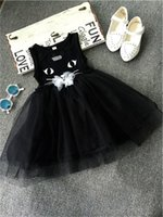 baby kitty costumes - 2016 New Sleeveless Summer Party Dress For Girls Baby Girls Kitty Dress Kids Children Clothing Christmas Party Costume