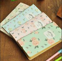 agenda notebook - New vintage rose series K notebook DIY Journal diary pocket kraft paper book Notepads agenda