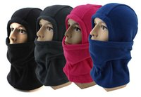 Wholesale Outdoor Cycling Ski Fleece Hat Balaclava Hood Cap Man Winter Motorcycling Windproof Mask Helmet Scarf hb330