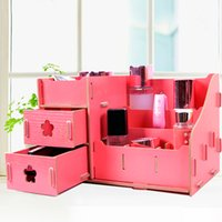wholesale eceive a case creative diy skincare cosmetics multi functional wooden drawer office desktop storage box cheap office drawers