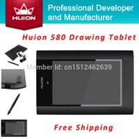 Wholesale Hot Sale New HUION quot X quot Graphic Pen Tablets Professional Signature Digital Boards USB Graphics Pen Tablet For PC Black