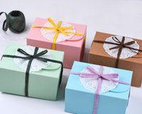 Wholesale Wholesale500pcs Small Natural jewelry Kraft paper gift box Cake package muffin box biscuits box