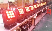 Wholesale 9 W RGBW IN1 LED full color MOVING head beam Matrix Light Dot matrix light Marquee lights