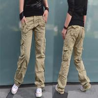 Wholesale Camouflage Cotton Pants Women - Women Clothing Fashion Women's Camouflage Army Fatigue Cargo Pants Girls Harem Hip Hop Dance Sweat Pants Baggy Trousers 9885