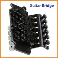 Wholesale High quality New Guitar Tremolo Bridge Double Locking Systyem Black Floyd Rose Lic Guitar Bridges Via DHL