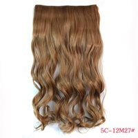 Wholesale 100g Human Hair Extentions Europe and America Popular Hair Pieces Five Clips in Hair Extentions Pure Color High Quality Synthetic Hair J002