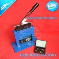 Wholesale Aluminum tube sealing machine teeth paste tube sealer packing tube sealer aluminum stamping sealer with expiration codes manual sealer