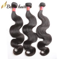 Wholesale Brazilian Body Wave Malaysian Peruvian Indian Virgin Human Hair Bundles Hair Extensions quot quot Bellahair On sale A High Quality
