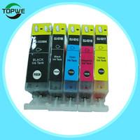 Wholesale Compatible with Canon PGI BK CLI BK C M Y color ink cartridge refined edible