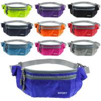 Wholesale Waterproof Waist Travel Sport Running Belt Money Wallet Pouch Fanny Bum Hip Bag Outdoor Sports Pack Hiking Leisure Mini Zip Bag
