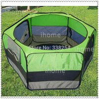 Wholesale Top Grade portable panel fabric pet playpens for Cat s Cage Eco Friendly D OXFORD Polyster Green color Pet Tents