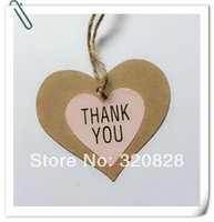 Wholesale Pink Kraft Thank You Stickers mm seal stickers HandMade stickers gift decoration sticker