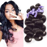 Wholesale 8A malaysian Virgin Remy Hair Body Wave Unprocessed Remy Hair No Shedding No Tangle Fast Shipping human hair weave
