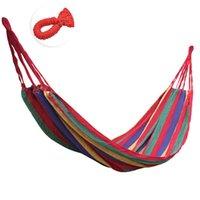Cheap New Portable Canvas Hammock Outdoor Garden Camping Travel Beach Swing Bed