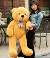 Wholesale Giant Teddy Bears cm inch Cotton Toy Teddy Bears Stuffed Animals For Plush Toys Feast To Friend Favorite Gift Child s Gift Shop