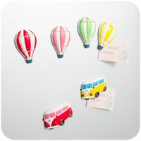 balloons free delivery - Free Delivery Small balloons and stereo bus resin refrigerator magnet magnetic cartoon note Decoration Kids toy
