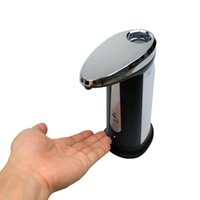 hotel soap - 400ml Automatic Stainless Hands Free Ir Sensor Soap Dispenser Sanitizer Without Tactile for Kitchen Bathroom Home Hotel Ezigo