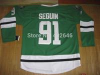 Unisex baseball jersey size chart - 2015 New NEW Ice Hockey Dallas Tyler Seguin green jerseys please read size chart