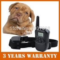 Wholesale Waterproof Rechargeable M Remote Dog Training Collar with LCD with Sound Vibration Correction for small medium size dogs order lt no trac