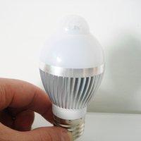 Wholesale WAKE UP W W W E27 LED Bulb Auto PIR Infrared Motion Sensor Detection Lamp White Light LED Bulbs Tubes