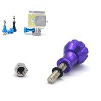 Gros-3 pièces en aluminium Thumb Bouton inoxydable Boulon Ecrou Vis Set GoPro Accessoires Pour SJCAM sj4000 sj7000 sj8000 Hero 2 3 3+ 4