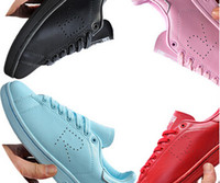Wholesale 2015 New design Raf Simons Stan Smith Shoes Fashion Casual Leather skate Shoes brand men women Classic Flats Sneakers