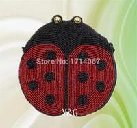 beatles coin - Hot selling DIY Beaded bag Glass Handmade Beaded Beatles Coin Purse Wallet