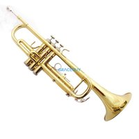 Wholesale The Trompet Mendini b Flat Bb Student Trumpeter Beginner Trumpet For Sale a Gold Brass Trumpeteer New Brand