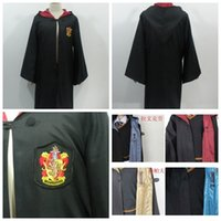 Wholesale Halloween party clothes Cosplay costume Harry Potter Gryffindor Slytherin Hufflepuff Ravenclaw Harry Potter Cloak magic robe Kids Adult