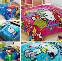 Wholesale 48styles New Blankets spiderman blankets children blankets Minions blankets cartoon blanket Soft blanket