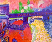 One Panel andre derain paintings - Landscape Art Painting Charing Cross Bridge by Andre Derain High Quality Hand painted