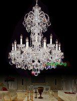 Wholesale modern big chandelier lamps european candle chandeliers versailles lights home lighting decoration bohemian crystal chandelier with crystals