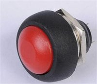 Cheap TS Designer 5pcs Red Mini Round Switch 12mm Waterproof Momentary Push Button Switch ST