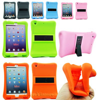 Wholesale Kids Shock Proof Silicone Sofe Gel Case Stand Cover For Apple ipad mini ipad mini ipad mini Tablet Comfortable protector