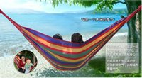 Wholesale 100 Cotton Camping hammock swing outdoor thickening canvas hammock casual single double bearing