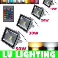 Wholesale RGB Flood Light LED W W W W RGB Floodlight Waterproof Outdoor Garden Decoration Landscape Lighting AC85 V