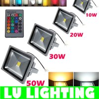 led floodlights - RGB LED Flood Light W W W W RGB Floodlight Waterproof Outdoor Garden Decoration Landscape Lighting AC85 V