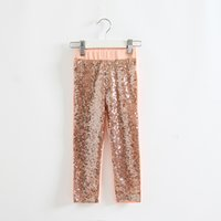 Wholesale 2015 Children Girls Clothes Kids Girls Casual Long Pants Sequins Baby Girl Solid Long Trousers Girls Spring Autumn Pants Baby Sequined Pants