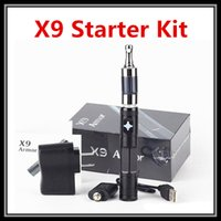 Cheap Wholesale X9 Ecig with iClear30 iClear30S X6 V2 Vapor Kit Armor X9 Vaporizer Pen Electronic Cigarette 1300mAH VV Battery Vape Mods