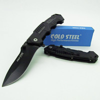 aluminum blackening - High quality cold steel Folding Knife Tactical Hunting Outdoor Rescue Camping Pocket Knives Cr17 Blade Blacken Aluminum Handle