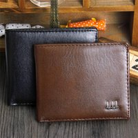 Wholesale New Arrivals Mens Wallet Credit Card Holder Bag Purse Black Synthetic Leather Fashion EK18