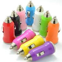Wholesale Colorful Bullet Mini V A USB Car Charger Universal Adapters for iPhone s s Plus Samsung Galaxy S4 S3 Cellphone
